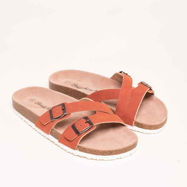 Brakeburn Orange Multistrap Sandals