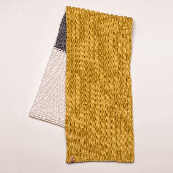 Brakeburn Colour Block Knit Scarf