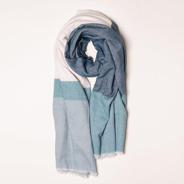 Brakeburn Blue Colour Block Blanket Scarf