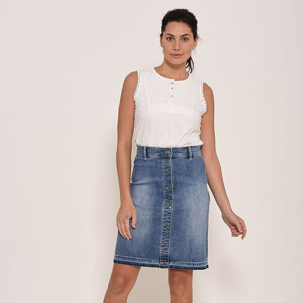 Brakeburn Denim Skirt