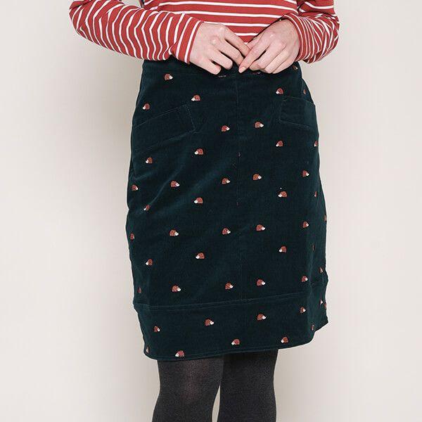 Brakeburn Embroidered Cord Skirt