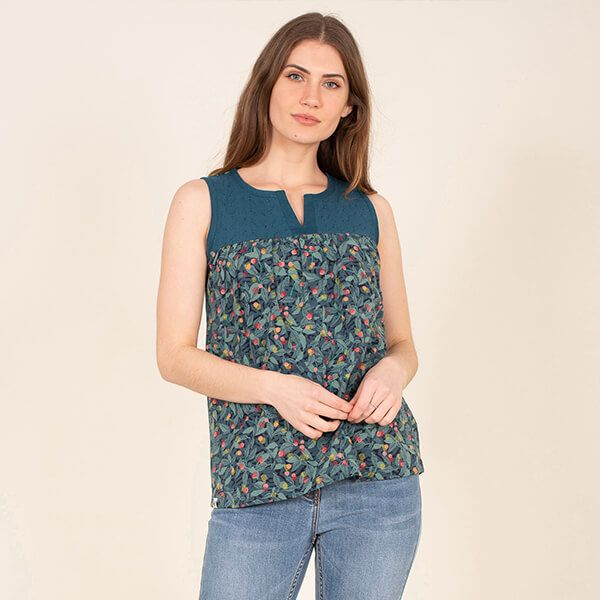 Brakeburn Summer Berry Sleeveless Top