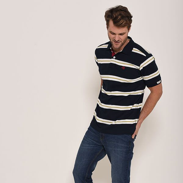 Brakeburn Navy Club Polo Shirt