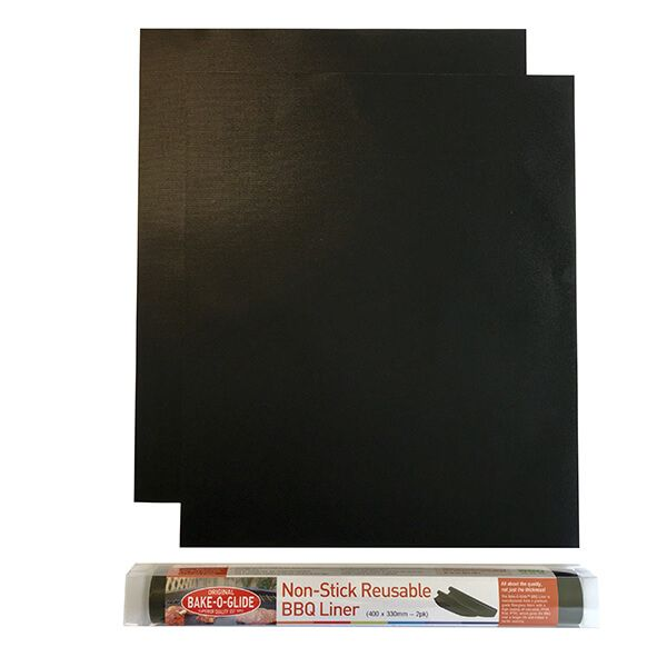 Bake-O-Glide Non-Stick Reusable BBQ Liners Pack Of 2
