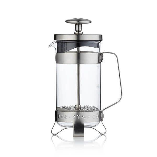 Barista & Co Beautifully Crafted Coffee Press Steel 3 Cup / 1 Mug
