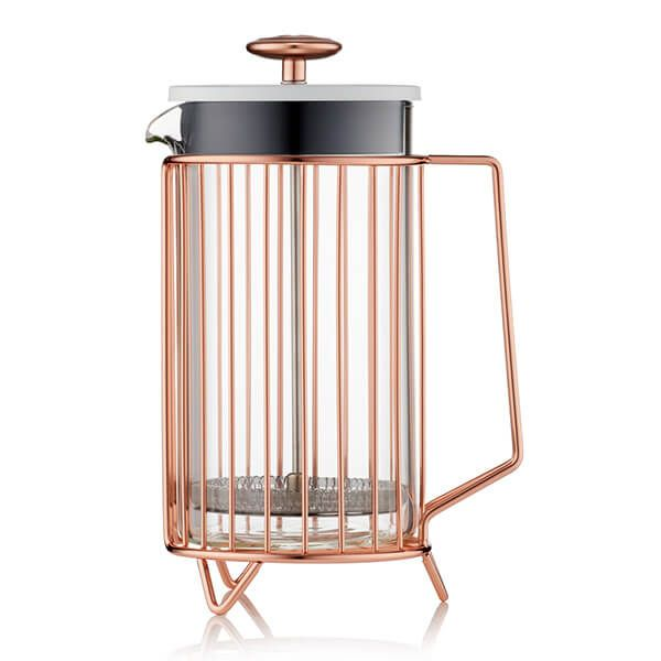 Barista & Co Beautifully Crafted Corral Coffee Press Copper 8 Cup / 3 Mug