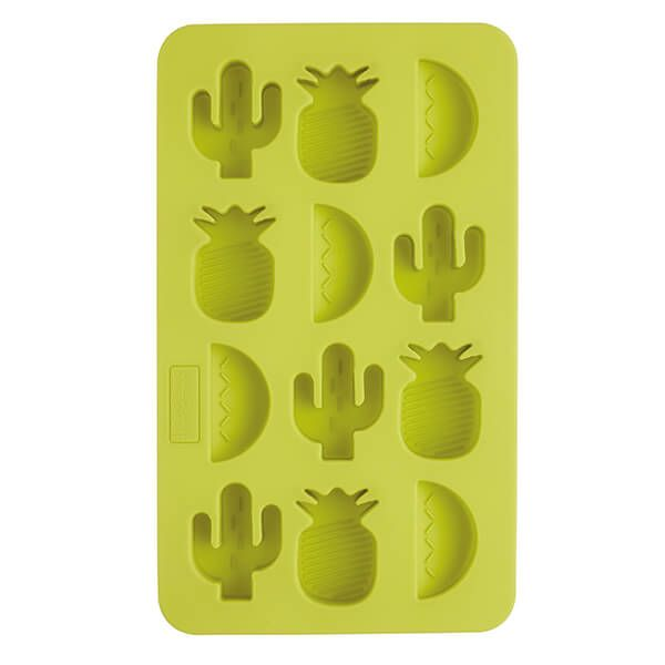 BarCraft Tropical Shapes Green Silicone Ice Cube Tray