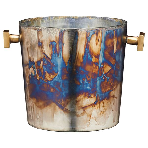 BarCraft Zinc Fired Glass Wine Bucket