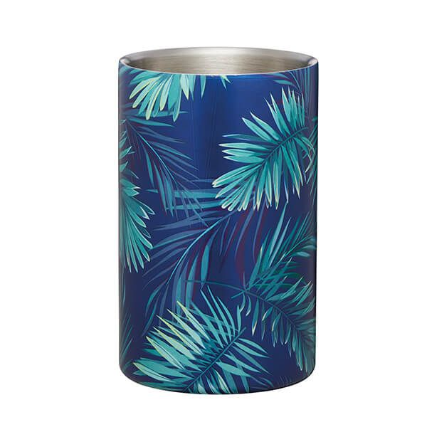 BarCraft Double Walled Palm Print Wine Cooler