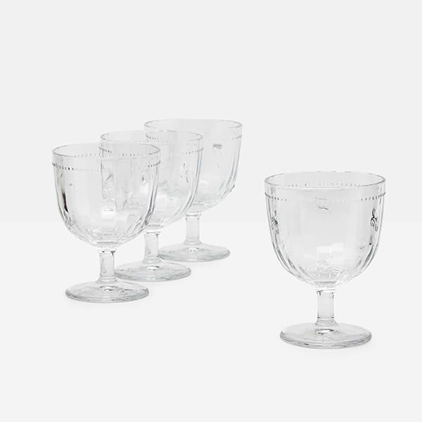 Joules Bees Gin Glasses Set Of 4