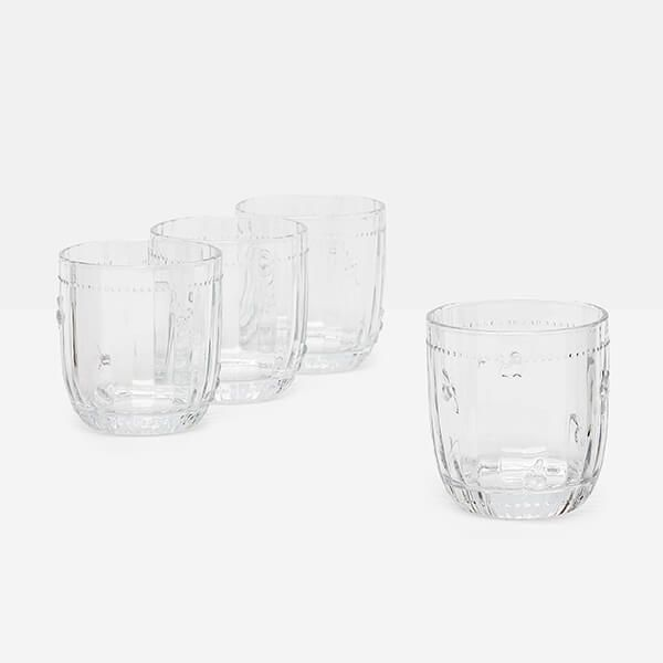 Joules Bees Glass Tumblers Set Of 4