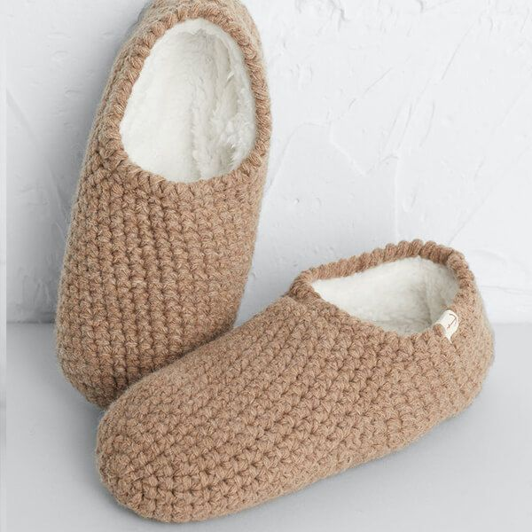 Seasalt Quiet Room Slipper Socks Oat Size S-M