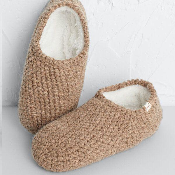 Seasalt Quiet Room Slipper Socks Oat Size M-L