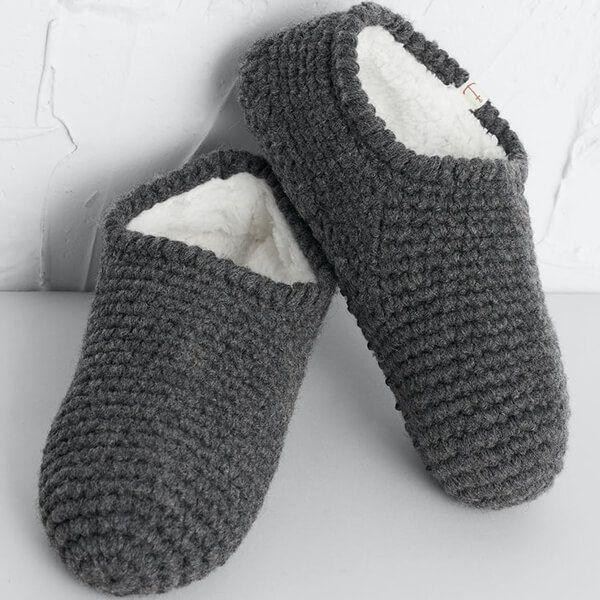 Seasalt Quiet Room Slipper Socks Coal Size S-M