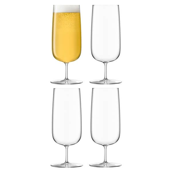 LSA Borough Pilsner Glass 440ml Set Of 4