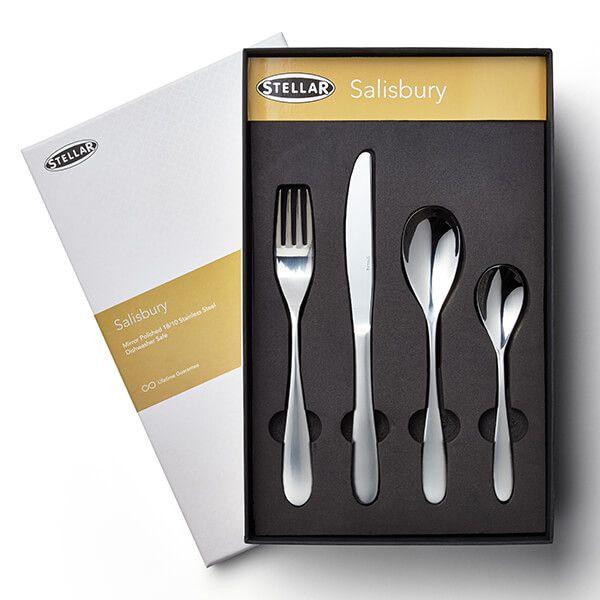 Stellar Salisbury 16 Piece Cutlery Gift Box Set