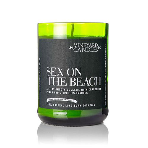 Vineyard Wine Bottle Sex on the Beach Cocktail Candle