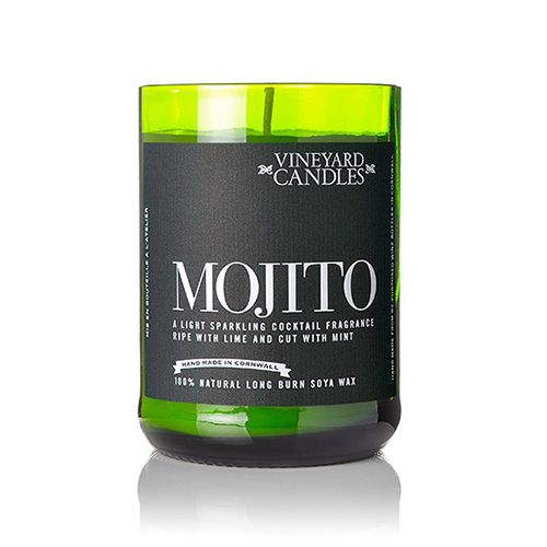 Vineyard Wine Bottle Mojito Cocktail Candle