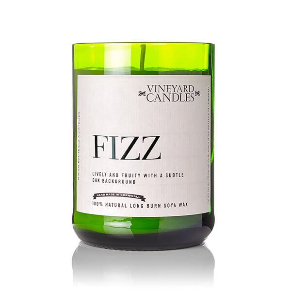 Vineyard Wine Bottle Fizz Candle