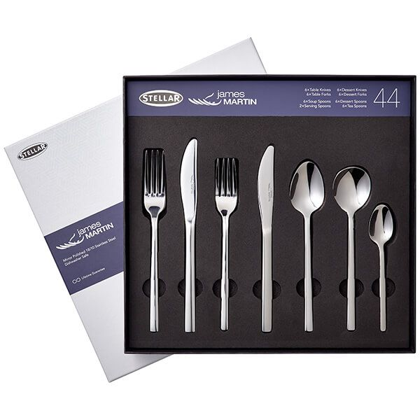 James Martin 44 Piece Cutlery Gift Box Set