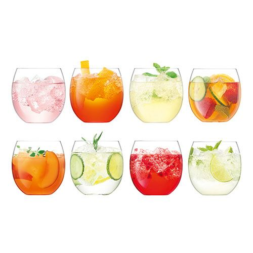 LSA Balloon Tumbler 450ml Clear Set Of 8