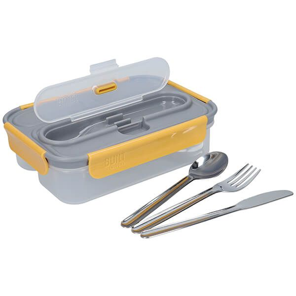 Built Stylist 1 Litre Lunch Box with Cutlery