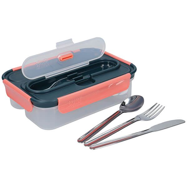 Built Tropics 1 Litre Lunch Box with Cutlery