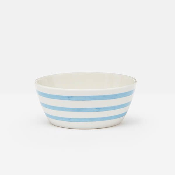 Joules Hand Painted Blue Stripe Cereal Bowl
