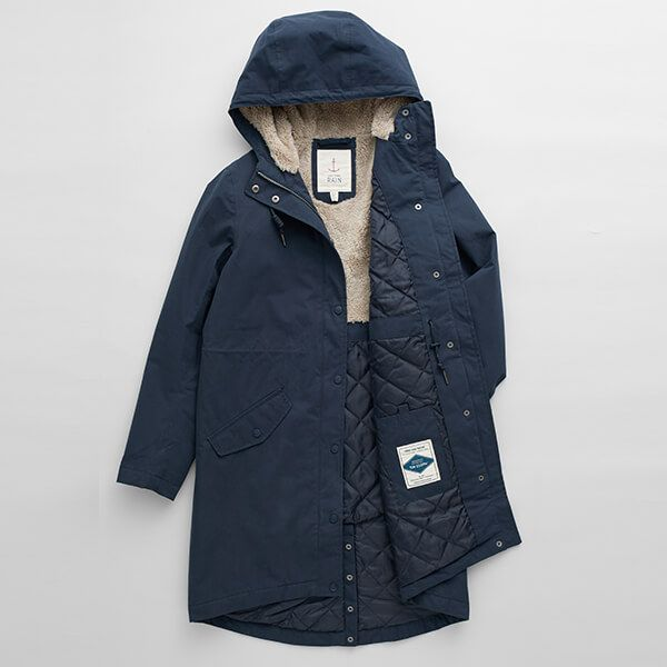 Seasalt Plant Hunter 2 Midnight Coat Size 18