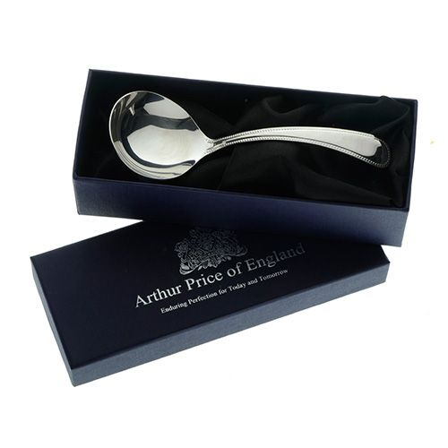 Arthur Price of England Sovereign Silver Cream Ladle Britannia