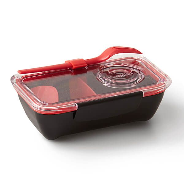 Black + Blum Box Appetit Bento Box Black / Red