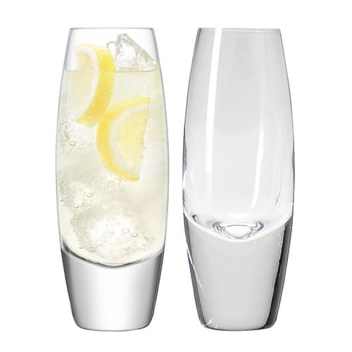 LSA Bullet Highball 350ml Clear Set Of 2