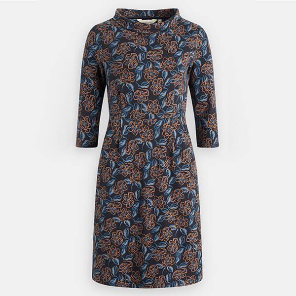 Seasalt Cleats Dress Brushed Magnolia Dark Night Size 16