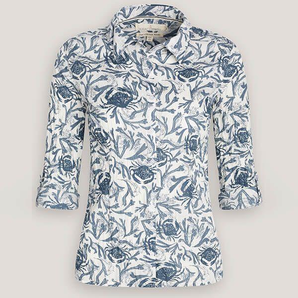 Seasalt Larissa Shirt Lino Crab Pool