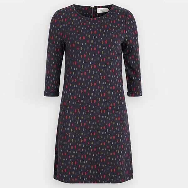 Seasalt Print Makers Dress Sketched Spots Dark Night Size 20