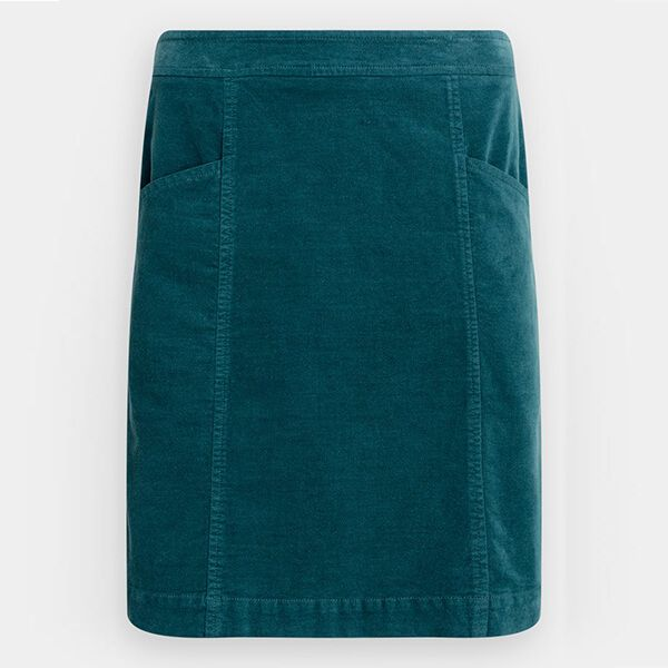 Seasalt Wave Worn Skirt Dark Lake Size 14