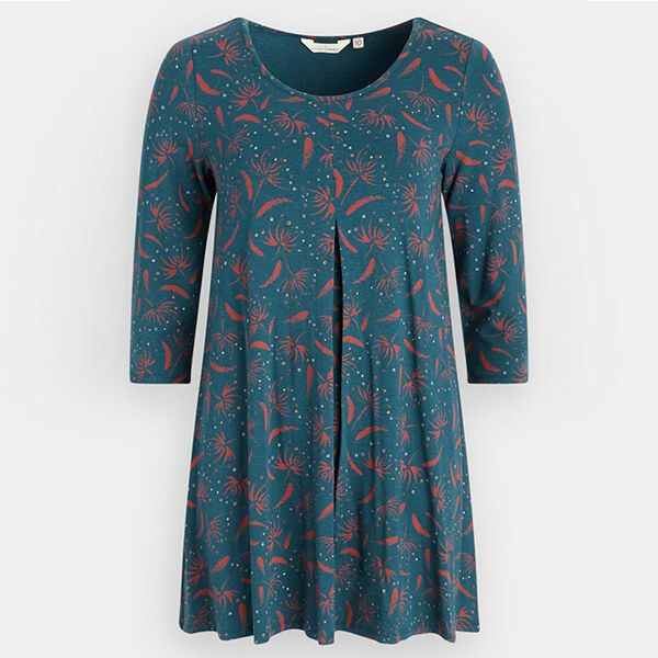 Seasalt Arusha Tunic Seed Head Dark Lake