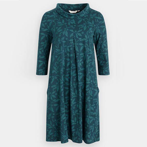 Seasalt Etching Ink Dress Textured Berries Dark Lake Size 20