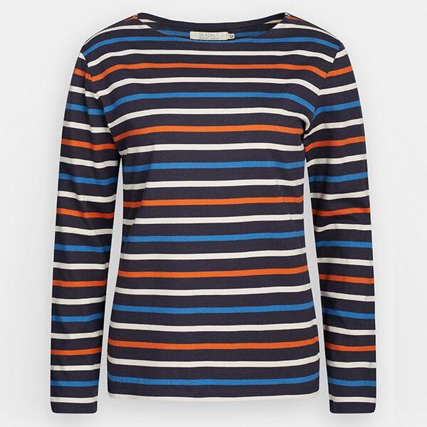 Seasalt Sailor Shirt Tri Breton Midnight Sailor Size 24