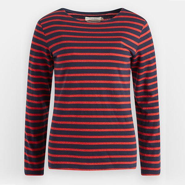Seasalt Sailor Shirt Breton Dark Night Vermillion Size 24