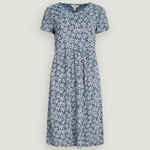 Seasalt Brush Drawing Dress Daisy Bloom Wild Pansy Size 16