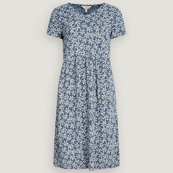Seasalt Brush Drawing Dress Daisy Bloom Wild Pansy Size 14