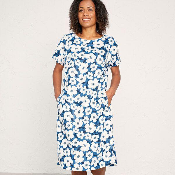 Seasalt Primary Dress Mallow Flower Cargo