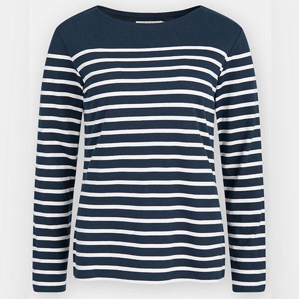 Seasalt Sailor Shirt Falmouth Breton Midnight Chalk