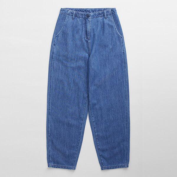 Seasalt Stones Throw Trousers Mid Wash Indigo
