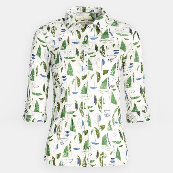 Seasalt Larissa Shirt Summer Sailboats Heath Size 16