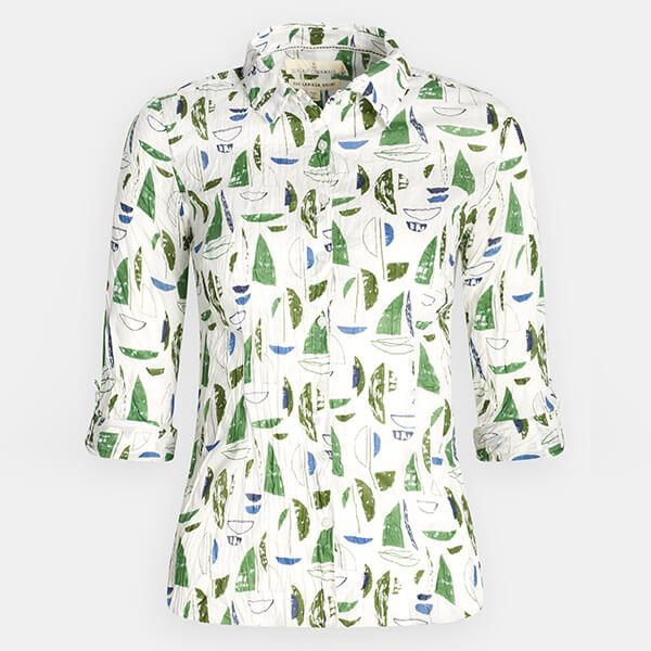 Seasalt Larissa Shirt Summer Sailboats Heath Size 18