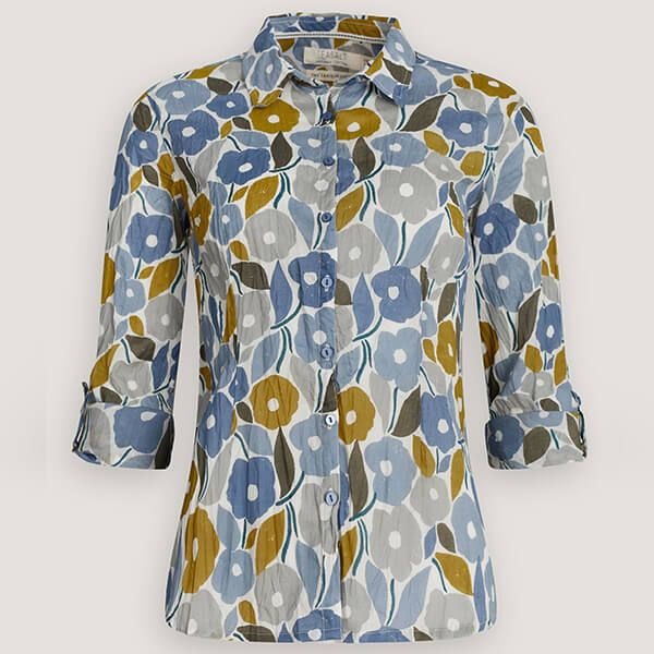 Seasalt Larissa Shirt Chalked Blooms Wild Pansy Size 10