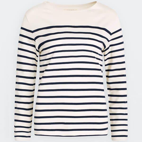 Seasalt Sailor Shirt Falmouth Breton Chalk Midnight Size 8