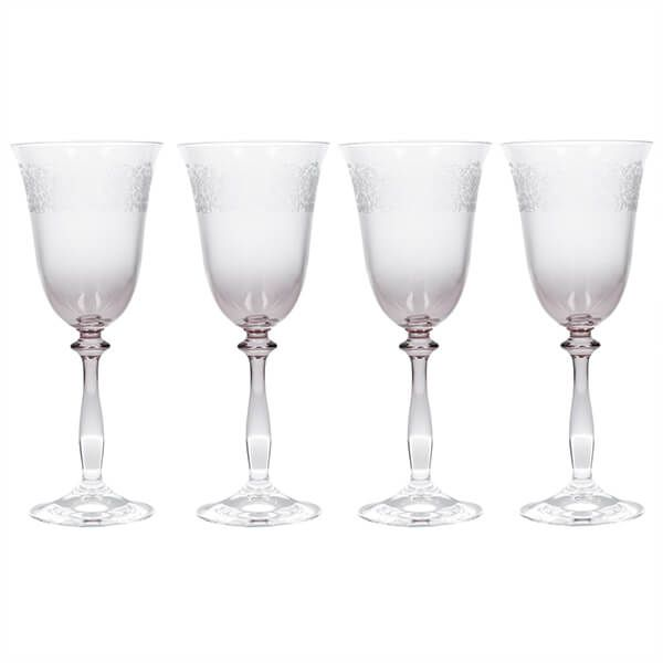 Katie Alice The Collection Set Of 4 Etched Wine Glasses